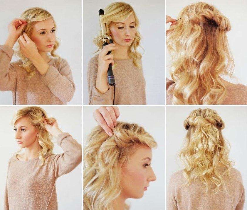 Прически своими руками для длинных волос накрученных