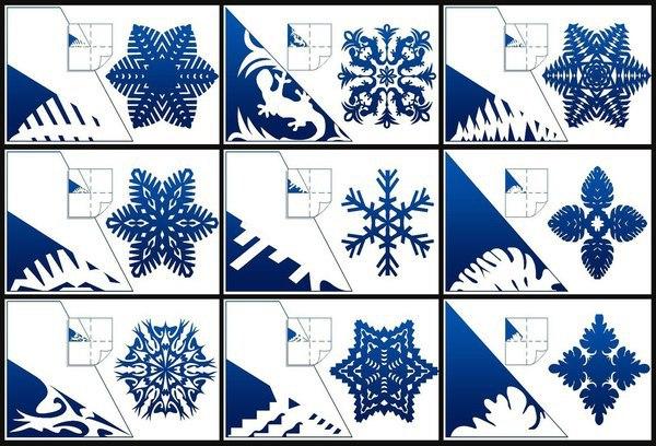 Как сделать маленькие снежинки поэтапно