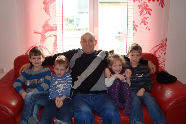 Фото - Моя семья: : Мой дедушка с моими братьями и сестрой - Женя, 14 лет, Вышгород