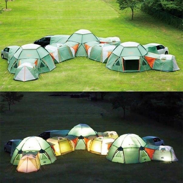Многокомнатная палатка