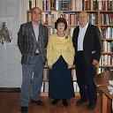 Встреча писателей, авторов книг в Библиотеке Зеленоградска:Василий Петушков, Николай Авраменко со мной