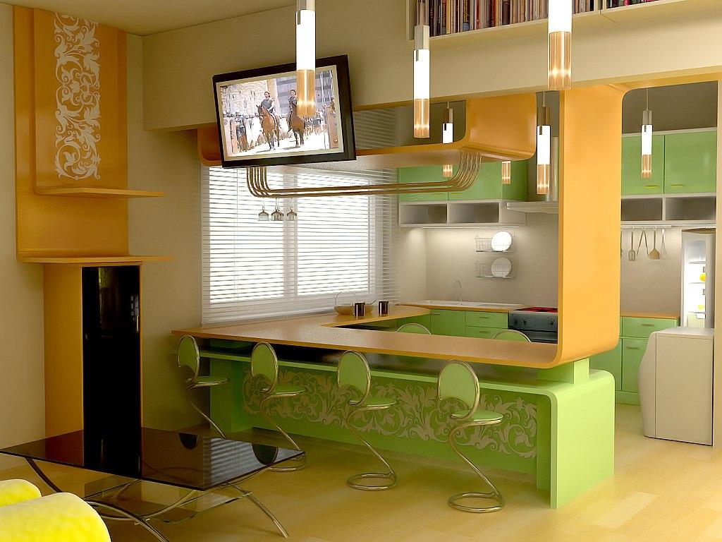 Барные стойки для кухни - 50 фото, 7 идей как установить бар.