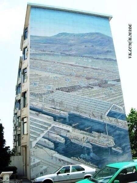 Рисунки на домах - хороший способ оживить серые и скучные городские постройки