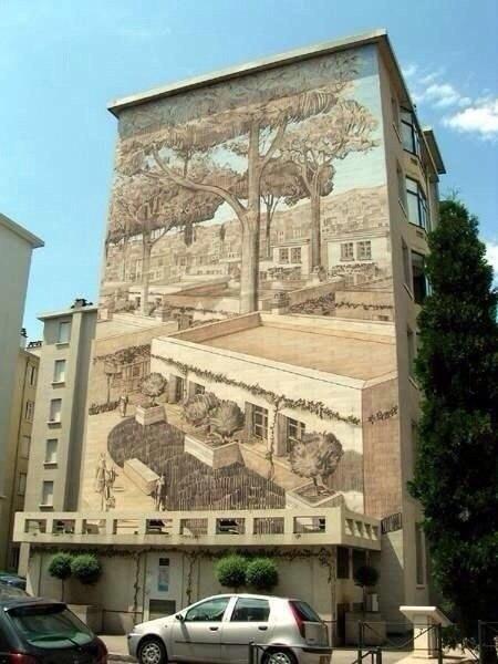 Рисунки на домах - хороший способ оживить серые и скучные городские постройки - 3
