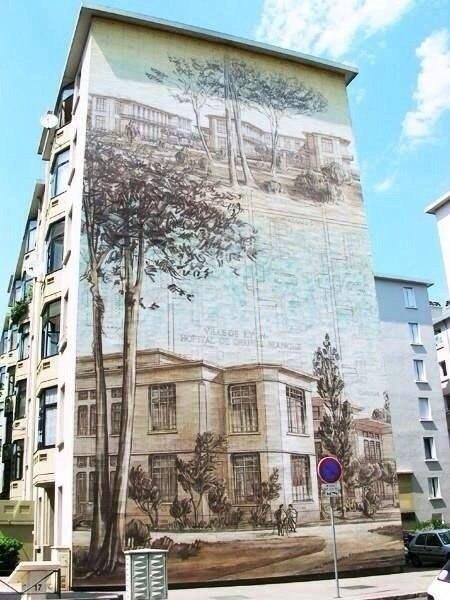 Рисунки на домах - хороший способ оживить серые и скучные городские постройки - 2