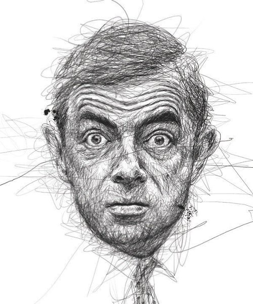 Портреты художника Винса Лоу, который создает свои работы не отрывая руки от листа бумаги - 3
