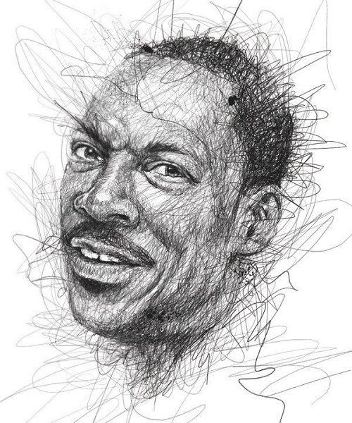 Портреты художника Винса Лоу, который создает свои работы не отрывая руки от листа бумаги - 2