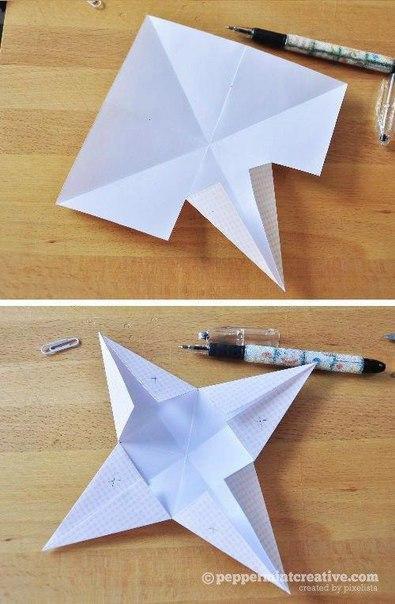 Бумажные звёздочки - 3
