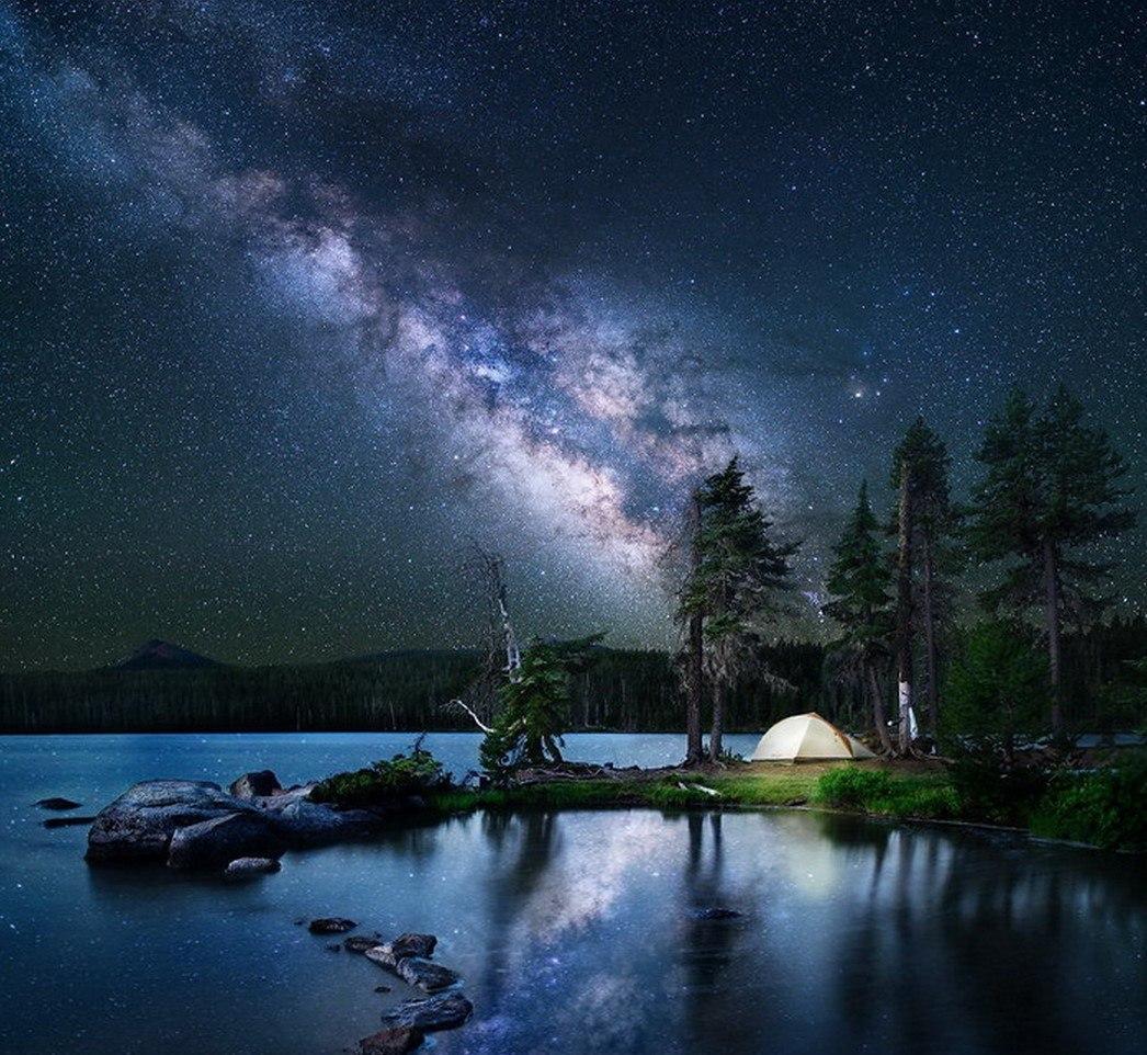 Очень красивые картинки на ночь, месяцем