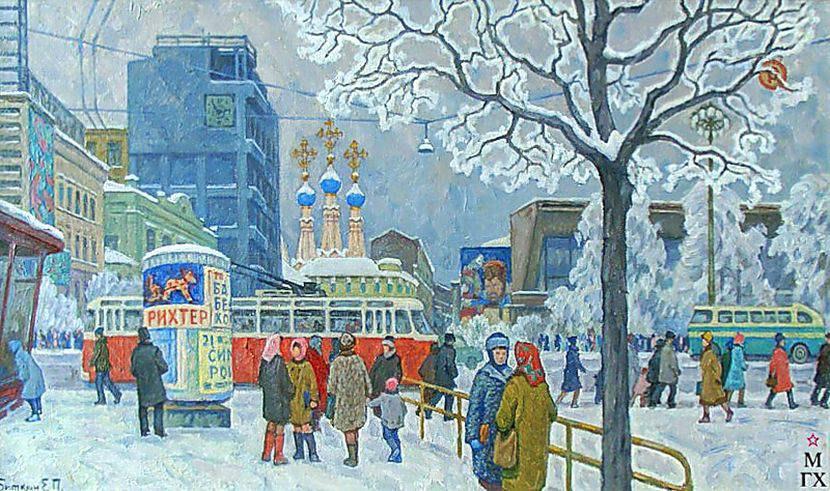Девочкам, зима картинки советские