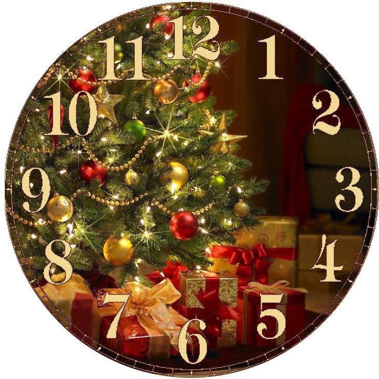 Картинки часы новогодние