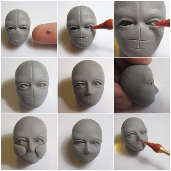 картинки лиц из пластилина было