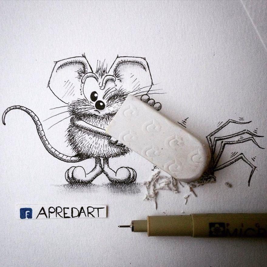 Февраля открытки, рисунки карандашом смешные видео