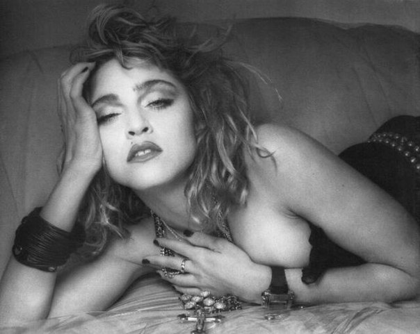 Madonna nude with hairy pussy and cowboy hat