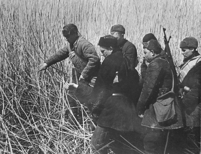 Советские партизаны в картинках