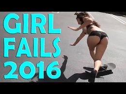 Подборка падений и неудач девушек