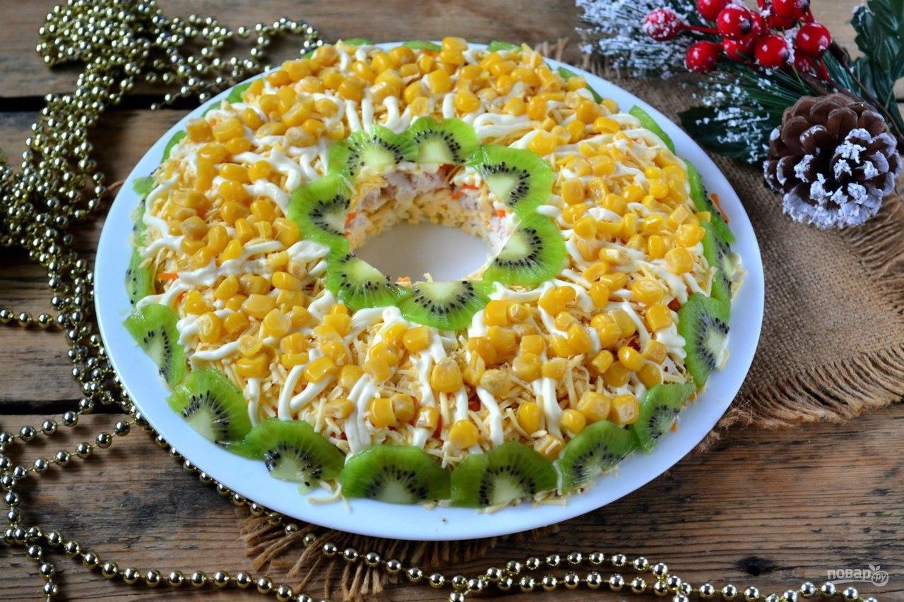 новогодние легкие салаты с фото рецепты был ветреный, нежаркий