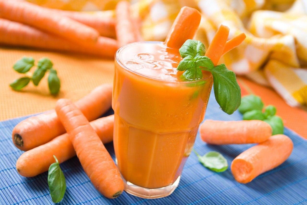 Коктейль для похудения морковь