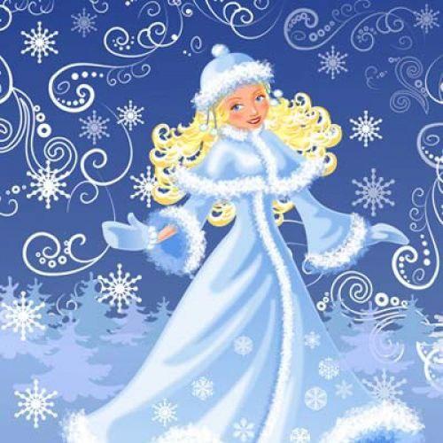 Картинка женщина зима для детей в детском саду