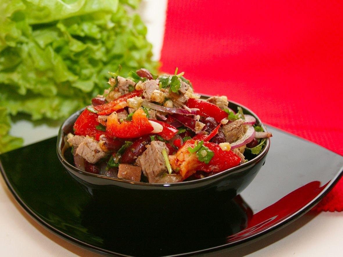Рецепты салатов быстро с говядиной фото