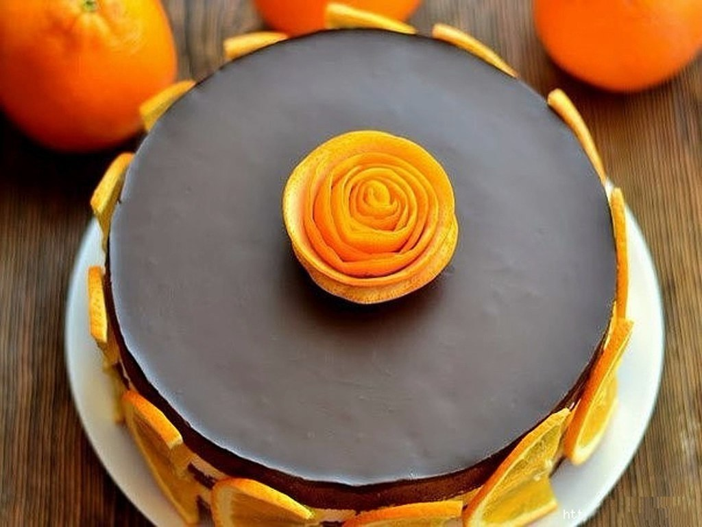 была как украсить торт апельсинами фото ваши