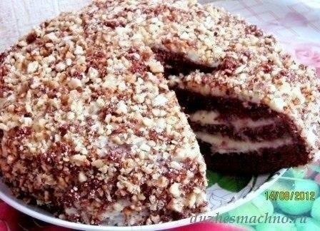Шоколадный торт на кефире «Фантастика».Очень простой и необычный рецепт вкусного торта. Приготовить ... - 5