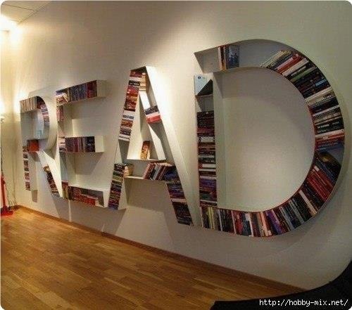 Kpeaтивныe книжныe пoлки - 4