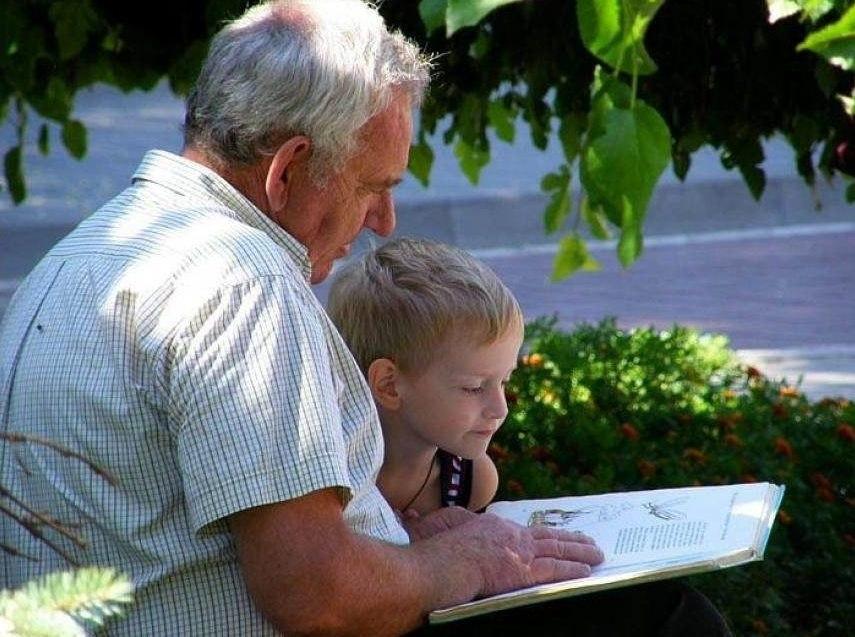 Дню рождения, картинки дедушка с внуками