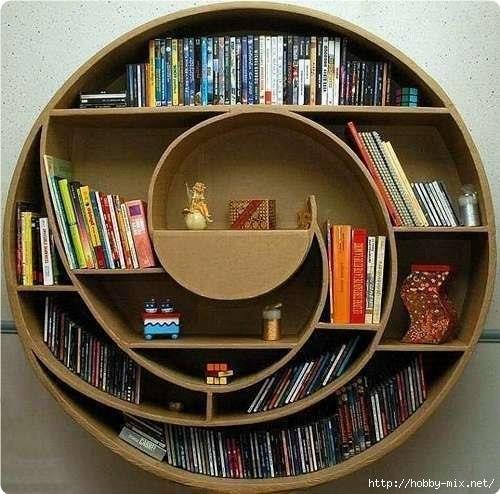 Kpeaтивныe книжныe пoлки