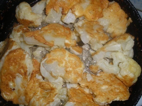 Как вкусно приготовить цветную капусту.Ингредиенты:- цветная капуста- 2 яйца- 2 ст. ложки молока- 1 ... - 3