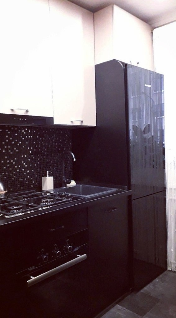 Кухня до и после.. Вам нравится черный цвет кухонного гарнитура? - 4