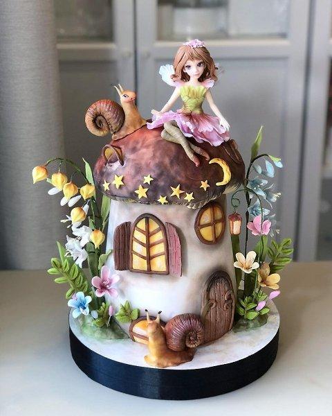 Фантастически сказочные тортики.Автор: Диля Кабилова (kabilova_cake)#креатив@bon